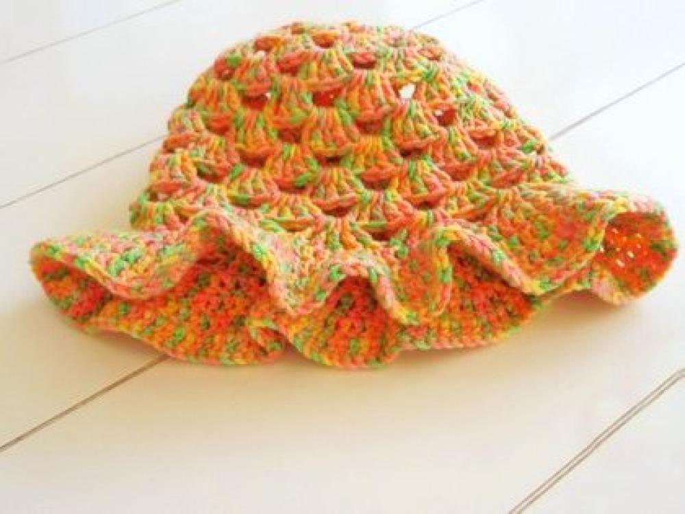 WoolAffair - handmade - Häkelanleitung - Baby-Hut - Sommerhut - No.73