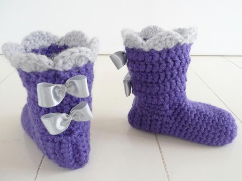 """WoolAffair - handmade - Häkelanleitung Babyschuhe – """"Mupfel-Booties ..."""