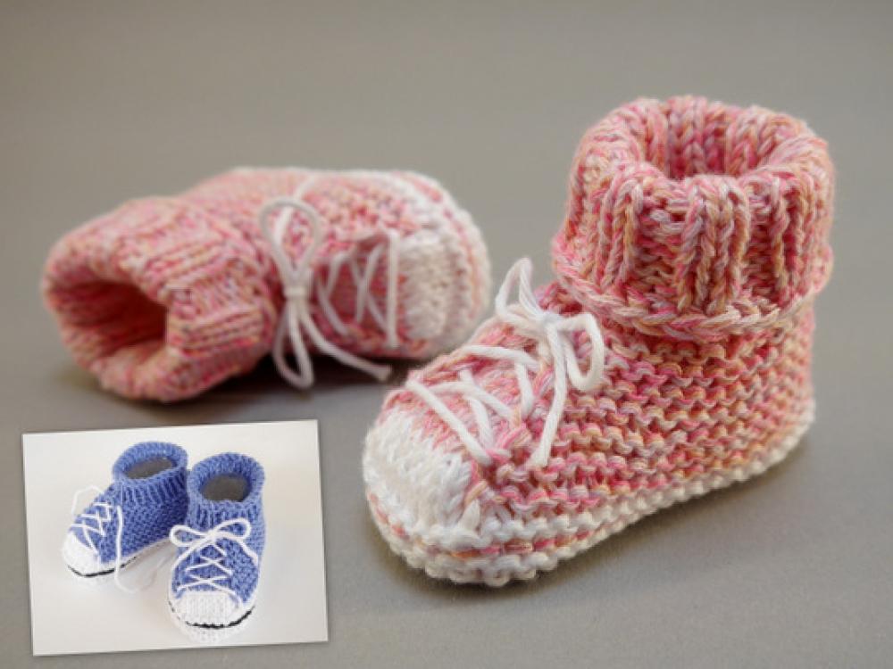 sneakers for cheap 2e649 f3fb4 Strickanleitung - Baby Turnschuhe SNEAKERS - für Anfänger geeignet – No.174