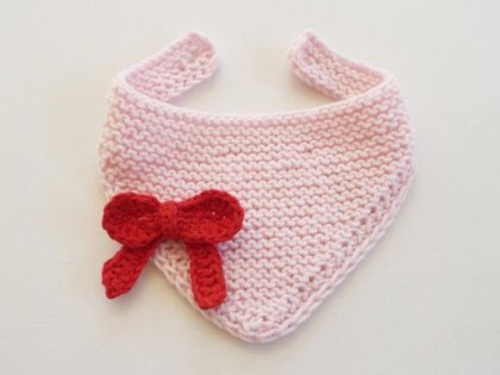 Woolaffair Handmade Strickanleitung Baby Halstuch