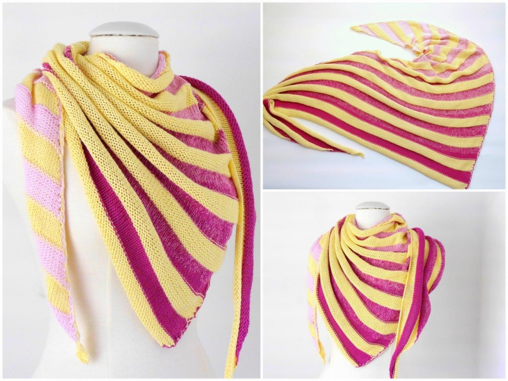 "Strickanleitung Dreieckstuch ""STRIPES No.1"" - No.105"