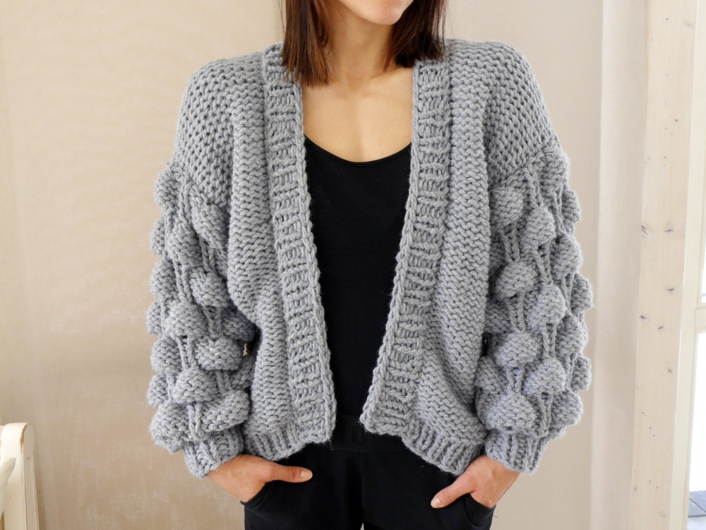 Wollpaket BUBBLE CARDIGAN in 2 Größen