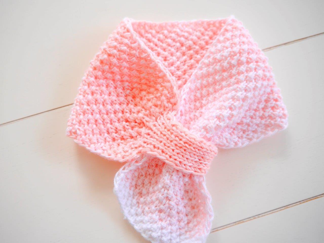 Woolaffair Handmade Strickanleitung Babyschal Ombre