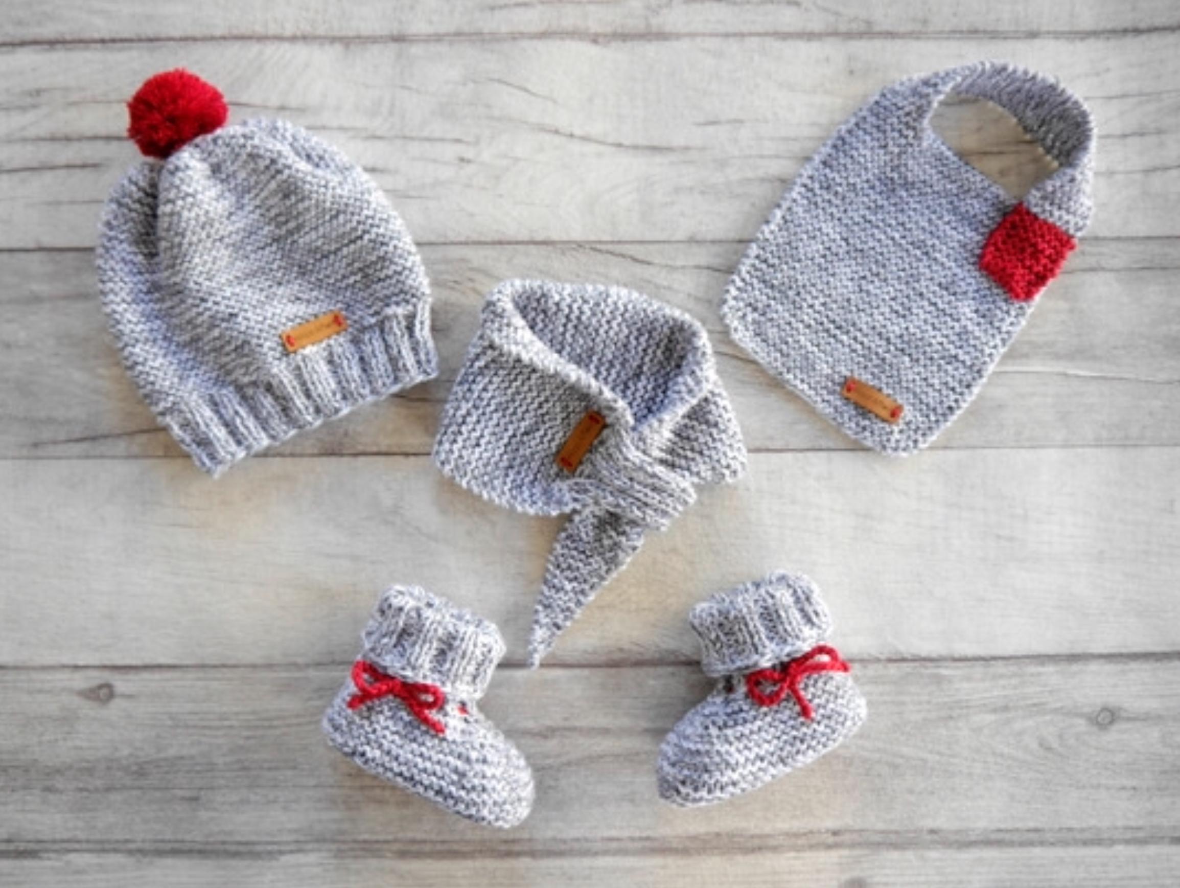 Woolaffair Handmade Strickanleitung Babymütze Babyschuhe
