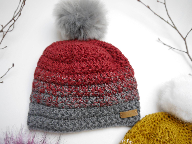 Woolaffair Handmade Häkelanleitung Sternchen Mütze Mit