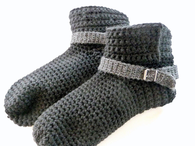 Woolaffair Handmade Häkelanleitung Hausschuhe Häkeln Herren